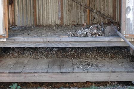 The new chicken coop. The floor is 1