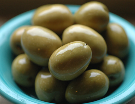 These olives are richly flavored, zesty and alive.  Someone get me a loaf of chiabatta and some olive oil quick!